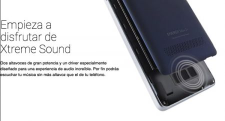 Altavoces Xtreme Sound en el Energy Phone Max 2+