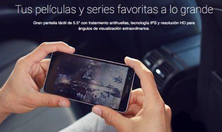 Pantalla del Energy Phone Max 2+