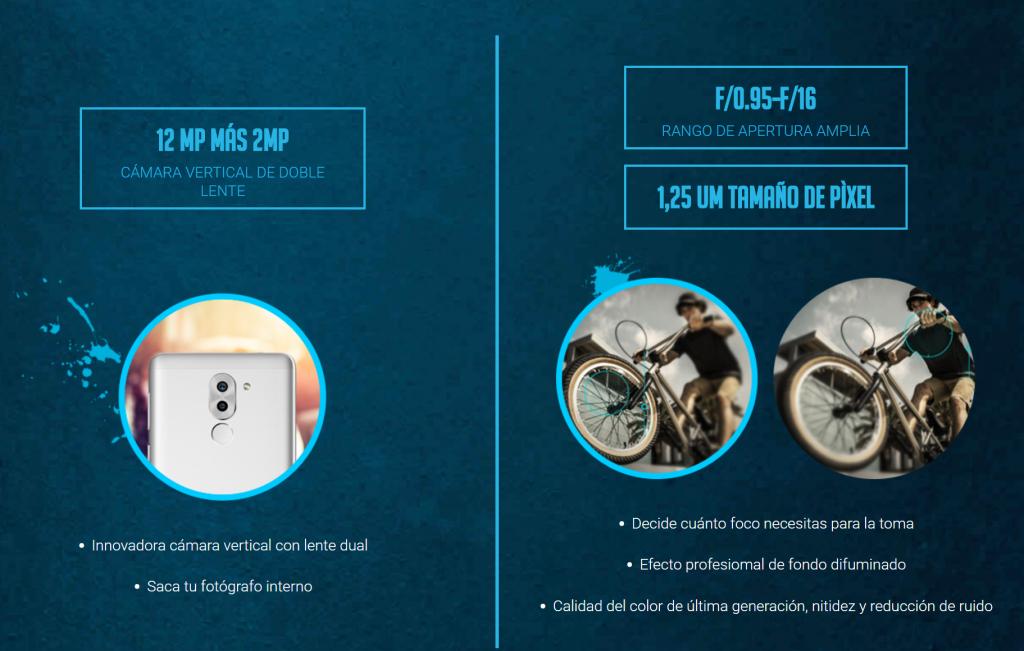 Especificaciones cámara dual Honor 6X