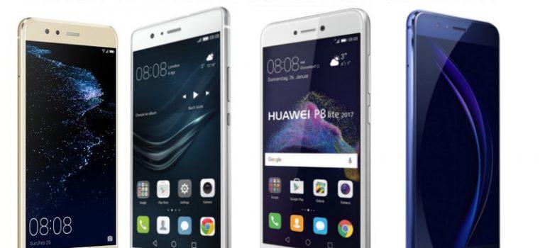 Comparativa Huawei P10 Lite vs Huawei P9 Lite vs Huawei P8 Lite 2017 vs Honor 8, diferencias, precios y características