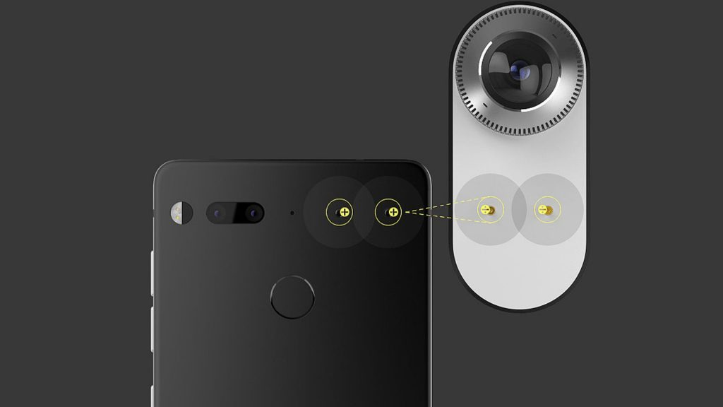 Así se acopla una cámara u otros accesorios al Essential Phone