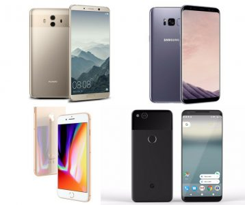 Análisis comparativo: Huawei Mate 10 VS Galaxy Note 8 VS Google Pixel 2 XL VS iPhone 8 Plus