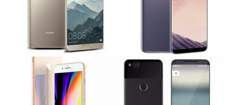 Huawei Mate 10 VS Galaxy Note 8 VS Google Pixel 2 XL VS iPhone 8 Plus comparativa de precios, características, opiniones, diferencias
