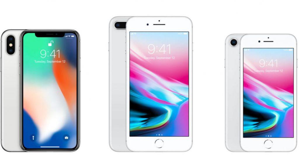 iPhone X, iPhone 8 Plus y iPhone 8