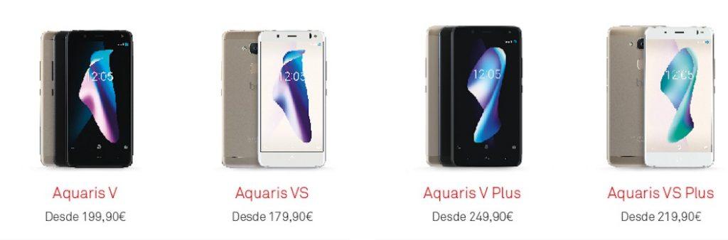 Precios de los nuevos BQ Aquaris VS y VS Plus