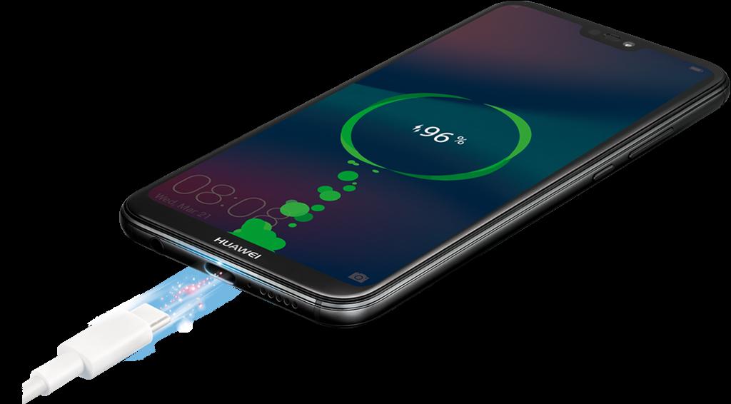 El Huawei P20 Lite trae carga rápida