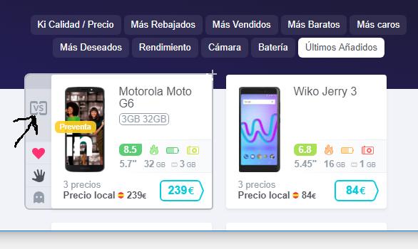 Como comparar moviles por Internet para encontrar el mejor precio y las mejores ofertas o descuentos