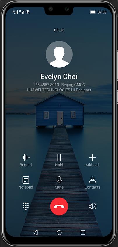 Interfaz del Huawei Y9 2019