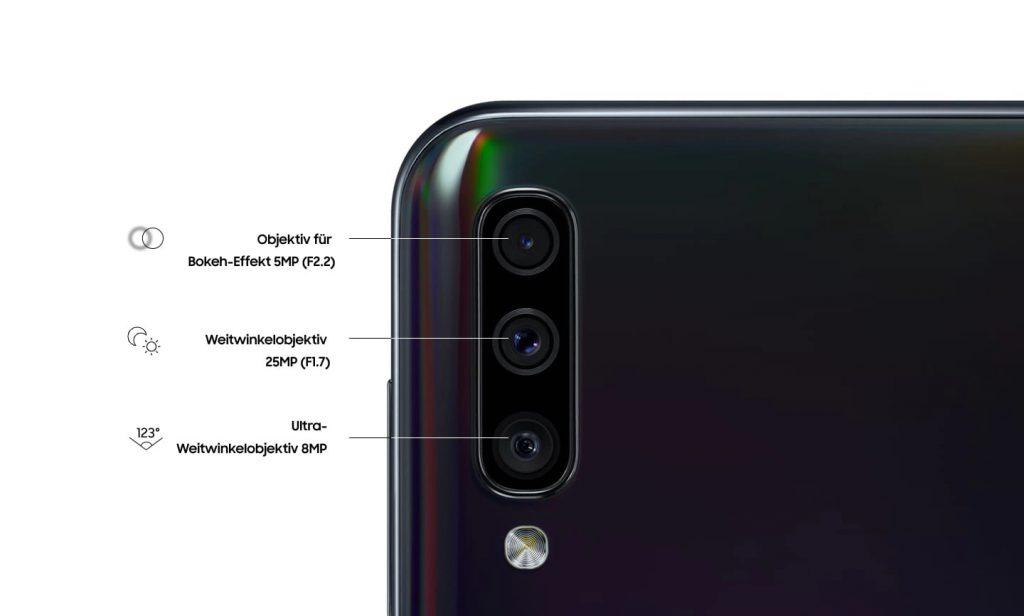 Cámaras traseras del Samsung Galaxy A50