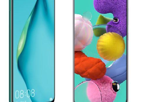 Samsung A51 vs Huawei P40 Lite diferencias, comparativa, precio, pantalla, batería, cámaras, procesador, rendimiento, características