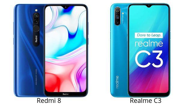 Redmi 8 vs Realme C3 comparativa, opinión, precios, diferencias en pantalla, batería, cámara, sensor de huella, procesador y características