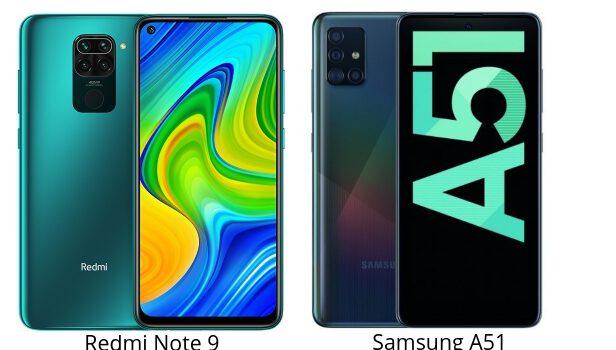 Redmi Note 9 vs Samsung A51 comparativa, precio, opinion, diferencias en pantalla, procesador, batería, cámara, diseño