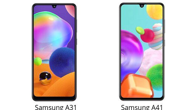 Samsung A31 vs Samsung A41 comparativa, precio, diferencias en pantalla, batería, cámara, procesador, rendimiento y características