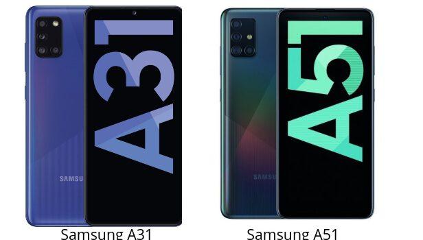 Samsung A31 vs A51 comparativa, precio, opinión, diferencias en pantalla, batería, procesador, cámara, rendimiento y características