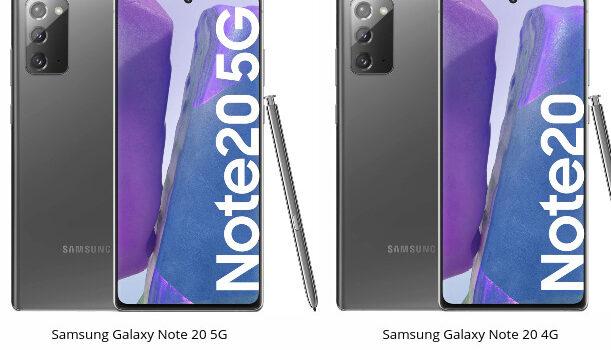 Samsung Note 20 5G vs Note 20 4G comparativa, opinión, diferencias en pantalla, procesador, batería, cámara y características