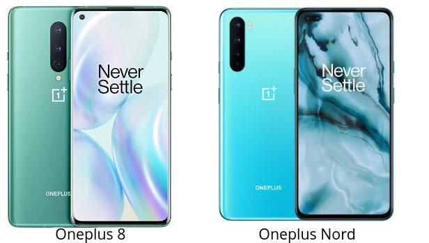 Oneplus 8 vs Oneplus Nord comparativa, opiniones, diferencias en precio, pantalla, procesador, batería, cámara y características