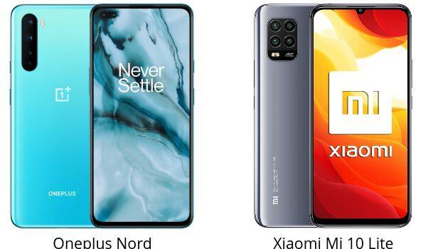 Oneplus Nord VS Xiaomi Mi 10 Lite comparativa, opinión, diferencias en pantalla, precio, batería, cámara, procesador y características