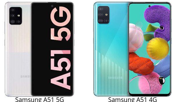 Samsung A51 5G vs A51 4G comparativa, opinión, diferencias en precio, procesador, rendimiento, cámara, batería y características