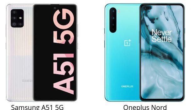 Samsung A51 5G vs Oneplus Nord comparativa, opiniones, diferencias en precio, procesador, cámara, batería, pantalla y rendimiento