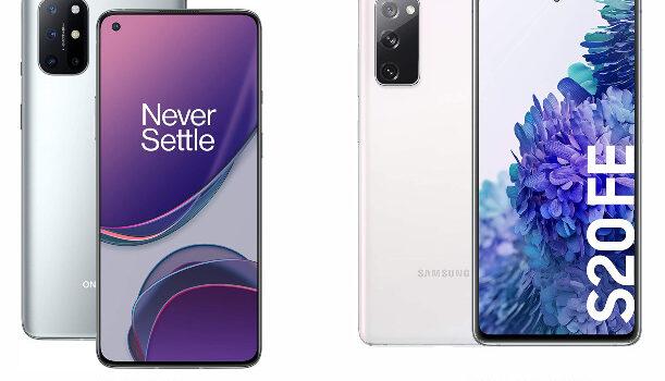 Oneplus 8T vs Samsung S20 FE comparativa, opinion, diferencias en precio, pantalla, camara, batería, procesador, diseño y características