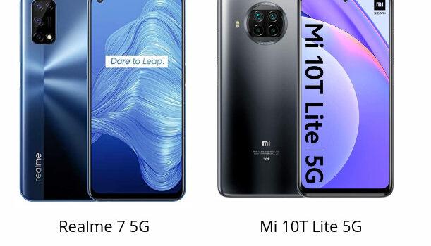 Realme 7 5G vs Xiaomi Mi 10T Lite 5G comparativa, precio, opinion, diferencias en procesador, pantalla, batería, rendimiento, camara y características