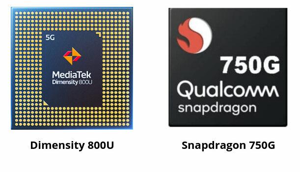 Procesador Dimensity 800U vs Snapdragon 750G diferencias, potencia, benchmarks, antutu, rendimiento y características