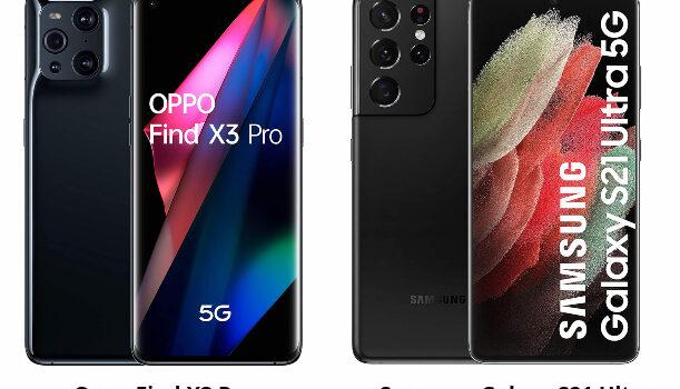 Oppo Find X3 Pro vs Samsung Galaxy S21 Ultra comparativa, precio, opinión, diferencias, cámara, pantalla, batería, procesador, autonomía y características