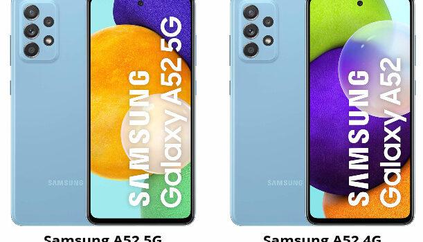 Samsung A52 5G vs A52 4G, diferencia y comparativa de las versiones con 5G y 4G, opinion, cual es mejor comprar