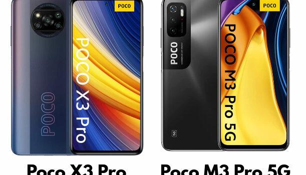 Comparativa del Poco X3 Pro vs Poco M3 Pro 5G, precio, opinión, cual es mejor comprar, diferencias en pantalla, procesador, cámara, batería, conectividad