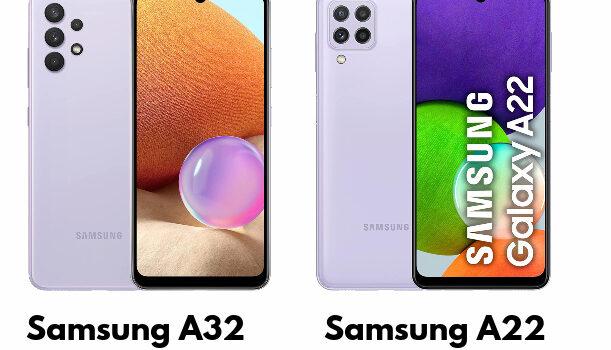 Comparativa y diferencias del Samsung A32 vs Samsung A22, precio, opinión, cual es mejor comprar, pantalla, cámara, batería, procesador