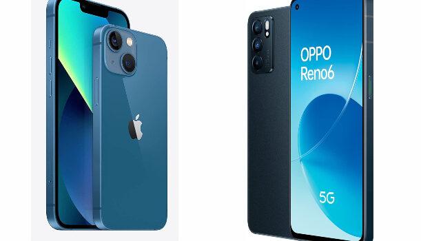 El iPhone 13 clon chino barato de calidad, Oppo Reno 6, movil Android equivalente al iPhone 13 en diseño